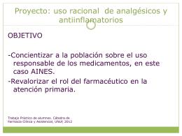 Proyecto uso racional de analgesicos y antiinflamatorios