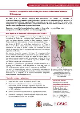 Potentes compuestos antivirales para el tratamiento del Alfavirus