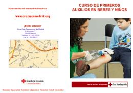 curso de primeros auxilios en bebes y niños