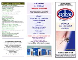 Matriz: - Laboratorios CEDIBAC Experiencia e Innovación