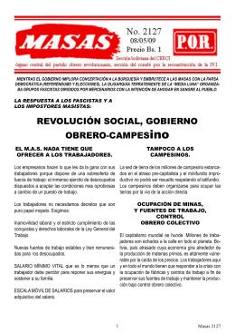 Masas 2127.indd - Partido Obrero Revolucionario