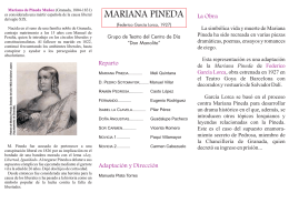 Mariana Pineda.-Folleto - Centro de Estudios del Campo de Montiel