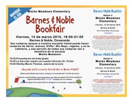 Viernes, 13 de marzo 2015, 18:00-21:00 Barnes & Noble, Oceanside