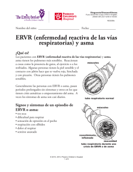 ERVR (enfermedad reactiva de las vías respiratorias) y asma