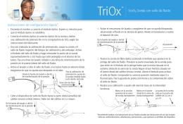 TriOx Instrucciones de configuración rápida