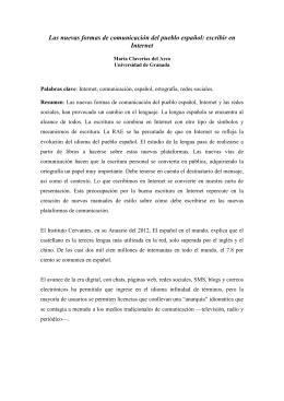 Las nuevas formas de comunicación del pueblo español