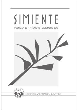 Simiente 83 - Sociedad Agronómica de Chile