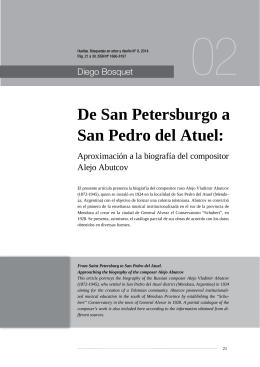 De San Petersburgo a San Pedro del Atuel: