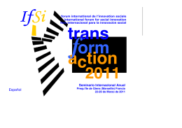 Folleto del Seminario TransformaCtion 2011