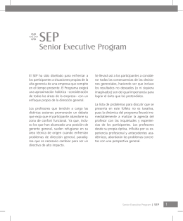 Senior Executive Program