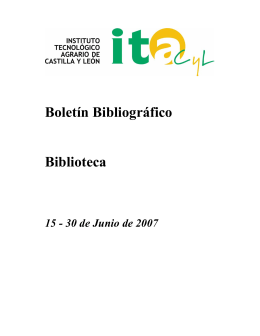 Boletín Bibliográfico Biblioteca
