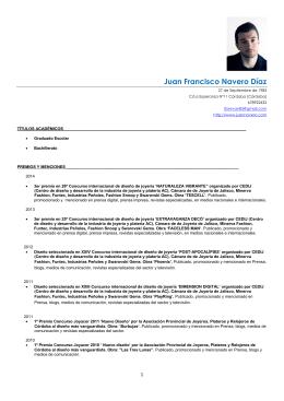 CV Juan Navero
