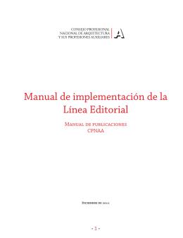 Manual de implementación de la Línea Editorial