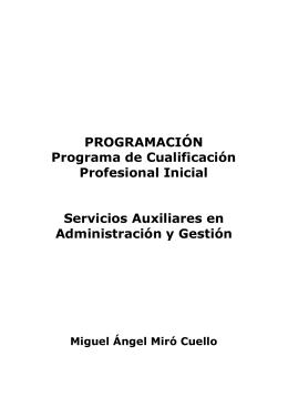 PROGRAMACIÓN Programa de Cualificación Profesional Inicial
