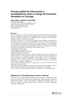 Proceso global de información y sensibilizacion sobre el riesgo de