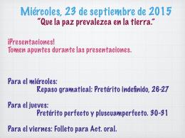 23 septiembre.key