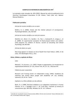 EJEMPLOS DE REFERENCIAS BIBLIOGRÁFICAS APA1 Los