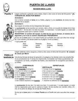 pasillo - Monaguillos