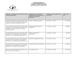 contratación de servicios - Comisión Nacional de los Derechos