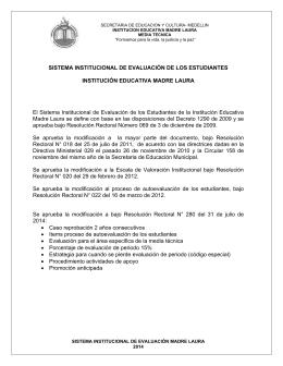 SISTEMA INSTITUCIONAL DE EVALUACIÓN DE
