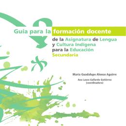 Guía para la formación docente de la Asignatura de Lengua y