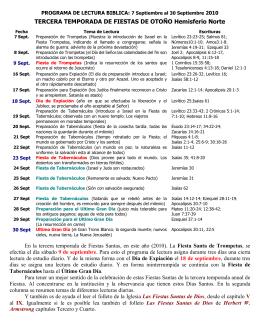 programa suplemento de lectura biblica para la temporada de fiestas