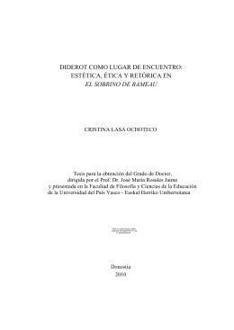 diderot como lugar de encuentro: estética, ética y retórica en