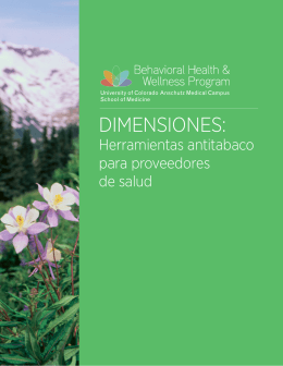 Herramientas antitabaco - Behavioral Health and Wellness Program