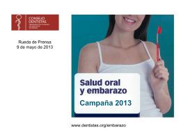 Campaña bucodental para embarazadas