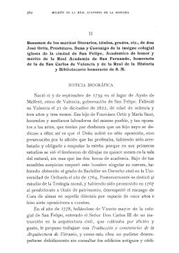 Resumen de los méritos literarios, títulos, grados, etc., de don José