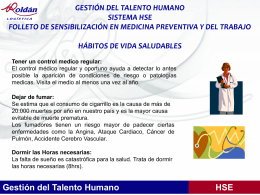 GESTIÓN DEL TALENTO HUMANO SISTEMA HSE FOLLETO DE