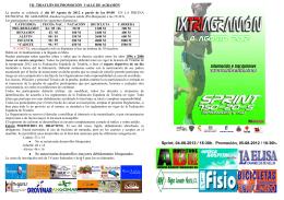 Folleto - Federación de Triatlón de Castilla La Mancha