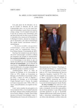 OBITUARIO Dr. ARIEL LUIS CAMOUSSEIGHT MARTICORENA