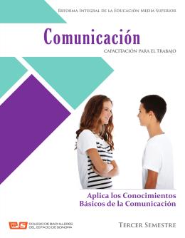 Comunicación - Colegio de Bachilleres del Estado de Sonora.