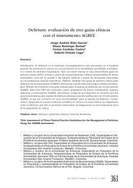 Delírium: evaluación de tres guías clínicas con