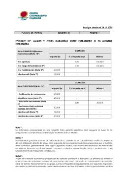 Epígrafe 51° - Avales y otras garantías sobre extranjero o en