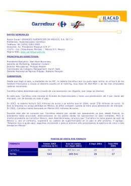 Hipermercados Carrefour Teléfono: 00 (5255