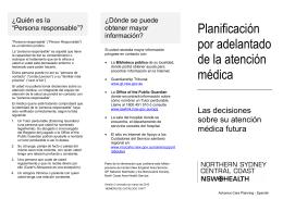 Planificación por adelantado de la atención médica