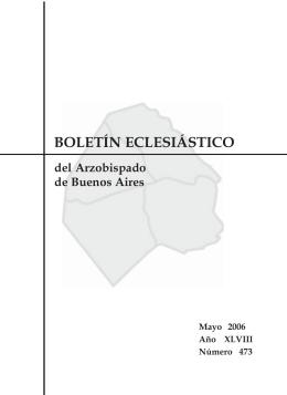 Boletin Mayo 2006. - Arzobispado de Buenos Aires