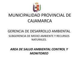X - SIAL CAJAMARCA - Municipalidad Provincial de Cajamarca