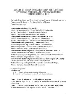 Acta 6 (17 de marzo de 2004 extraordinaria)
