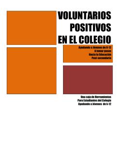 voluntarios positivos en el colegio