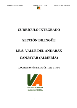 Currículo Integrado - IES Valle del Andarax