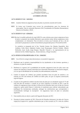 ACUERDOS AÑO 2011 Página 1 de 6 ACTA SESION Nº 232 ‒ 18