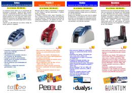 catálogo de presentación de la gama de impresoras Evolis