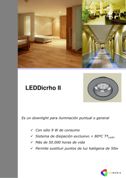 Folleto LEDDichro II