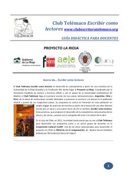 Cuadernillo docente (obra: Misterio en Los Piñones)