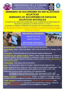 seminario de socorrismo en instalaciones