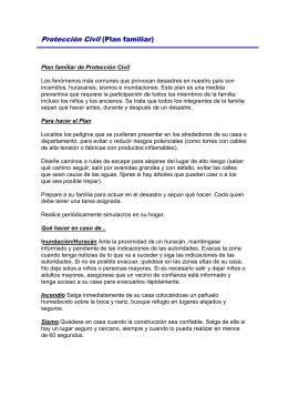 Plan familiar de Protección Civil