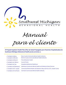 Manual para el cliente - Kalamazoo Community Mental Health and